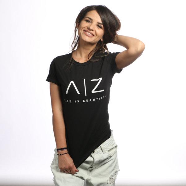 AZ Women T-shirt - BLACK